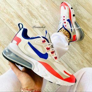 New Nike Air 270 react white sneakers